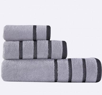 Πετσέτες Μπάνιου (Σετ 3 Τμχ) Madison Nef Nef Grey/Black