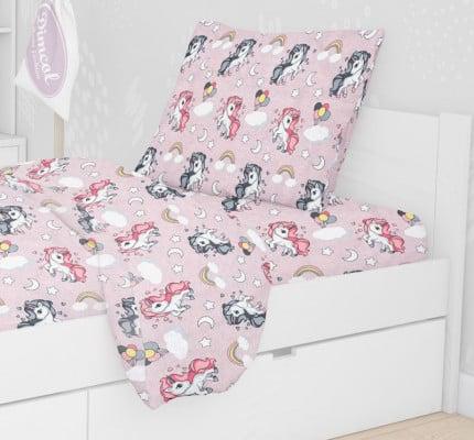 Μαξιλαροθήκη Τεμάχιο 50X70 Dimcol Unicorn 107 Λιλά