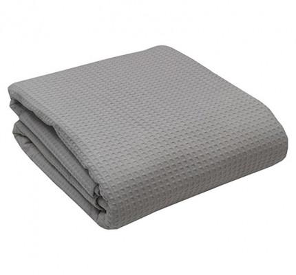Κουβέρτα Πικέ Μονή 160x255 Dark Grey