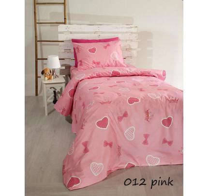 Σεντόνια Μονά (Σετ) Pink Hearts 012
