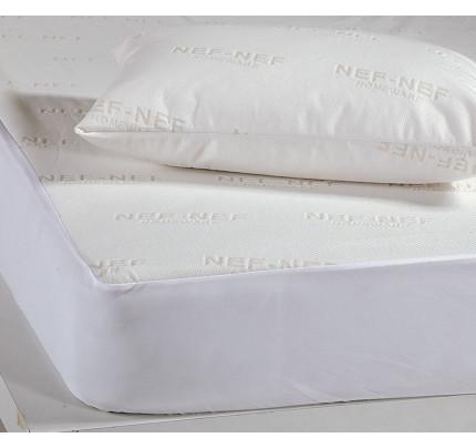 Μαξιλάρι Ύπνου με Θήκη 53x73 Nef Nef White Linen Πουπουλο 95-5 1100γρ