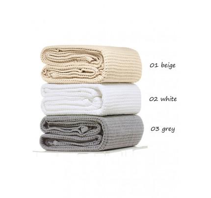 Κουβέρτα Πικέ Μονή 160x255 Grey