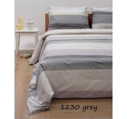 Σεντόνια Μονά (Σετ) Grey 1230