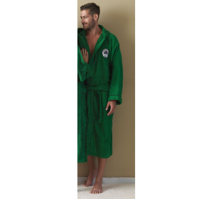 Μπουρνούζι Panathinaikos Palamaiki Official Team Licenced 1908 Adults Χωρις Κουκούλα Green