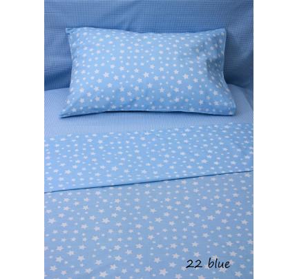 Φανελένια Σεντόνια (Σετ) Κούνιας - Sunshine Stars 22 Blue