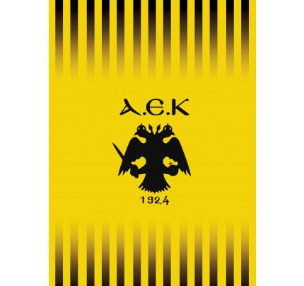 Κουβέρτα Βελουτέ Μονή 160x220 Α.Ε.Κ. Velour Palamaiki Yellow