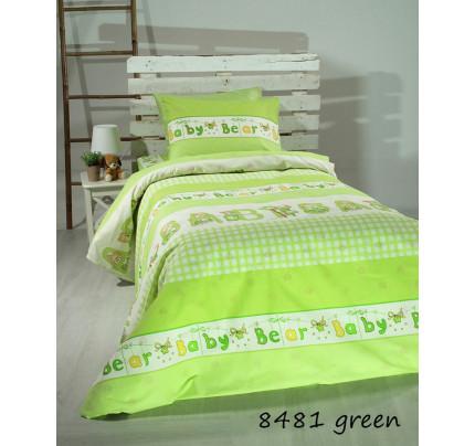 Σεντόνια (Σετ) Κούνιας - Sunshine Green Bears 8481