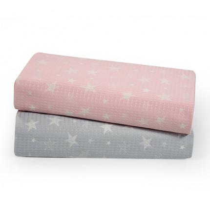 Κουβέρτα Πικέ Κούνιας 110x150 Nef Nef Moon Ροζ