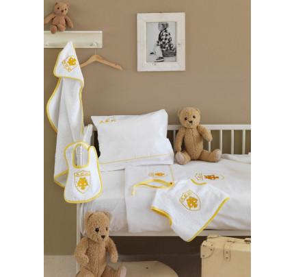 Κουβέρτα Πικέ Κούνιας 120x150 Palamaiki Official Team Licenced Aek Baby Yellow