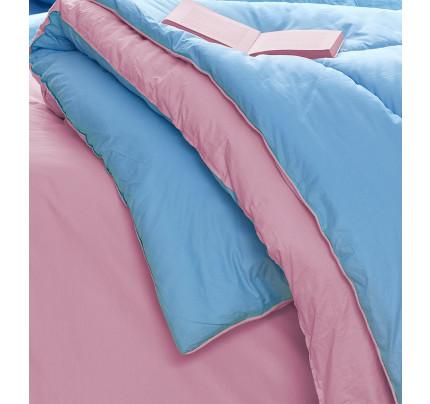 Σεντόνια+Πάπλωμα+Παπλωματοθήκη Υπέρδιπλα(Σετ 8τμχ)Bm0805 Palamaiki Bed In A Bag Monochromatic Ροζ-σιελ