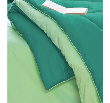 Σεντόνια+Πάπλωμα+Παπλωματοθήκη Υπέρδιπλα(Σετ 8τμχ)Bm0806 Palamaiki Bed In A Bag Monochromatic Πρασινο-βεραμαν