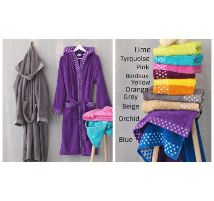Μπουρνουζι Dots Premium Bathrobe Palamaiki