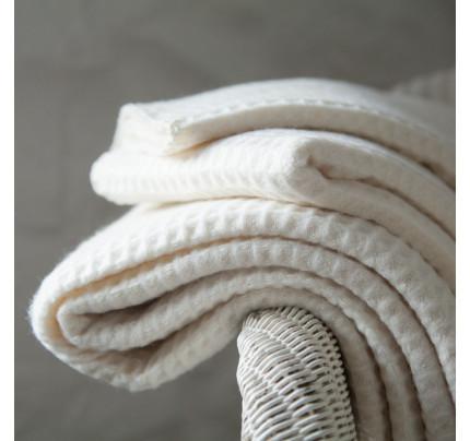 Κουβέρτα Πικέ Υπέρδιπλη 220x255 Λευκή