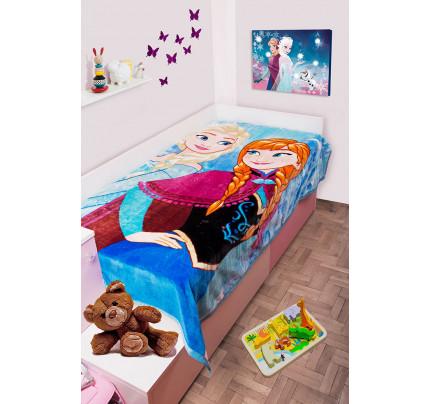 Παιδική Κουβέρτα Βελουτέ Disney 160x220 FROZEN 501 Digital Print