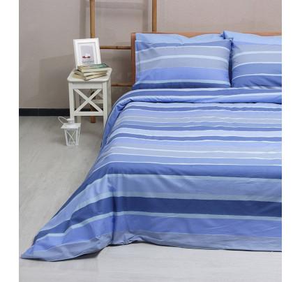 Σεντόνια Υπέρδιπλα (Σετ) 100% Βαμβάκι 2020 Blue