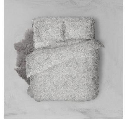 Φανελένια Σεντόνια Μονά (Σετ) 100% Βαμβάκι 2024 Grey