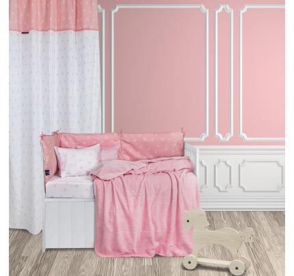 Κουβέρτα Βελουτέ Κούνιας 110x140 Greenwich Polo Club Essential 2952 Ροζ