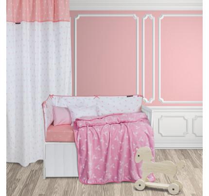 Κουβέρτα Fleece Κούνιας 110x150 Greenwich Polo Club Essential 2949 Λευκο-Ροζ