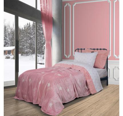 Κουβέρτα Fleece Μονή 160x220 Greenwich Polo Club Essential 2905 Ροζ