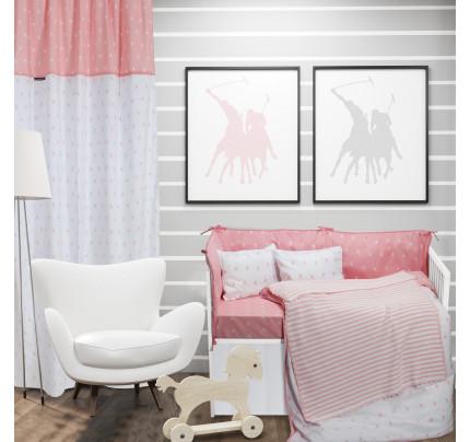 Κουβέρτα Πλεκτή Αγκαλιάς 75x100 Greenwich Polo Club Essential 2945 Λευκο-Ροζ