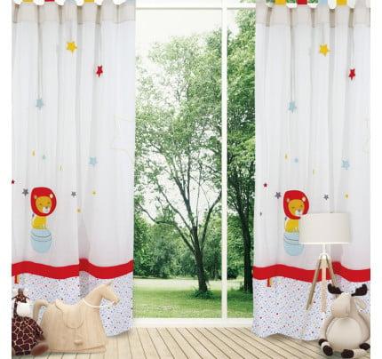 Κουρτίνα Με Θηλιές 140x260 Das Home Curtain 2125 Εκρου-Κοκκινο-Κιτρινο