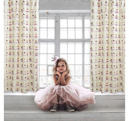 Κουρτίνα Με Τρουκς 140x260 Das Home Curtain 2137 Λιλα-Φουξια-Εκρου