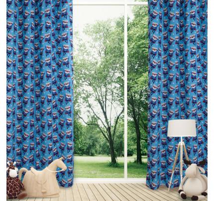 Κουρτίνα Με Τρουκς 140x260 Das Home Curtain 2138 Μπλε-Κοκκινο-Γαλαζιο
