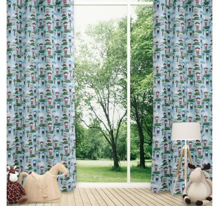 Κουρτίνα Με Τρουκς 140x260 Das Home Curtain 2142 Κοκκινο-Γαλαζιο-Μπλε