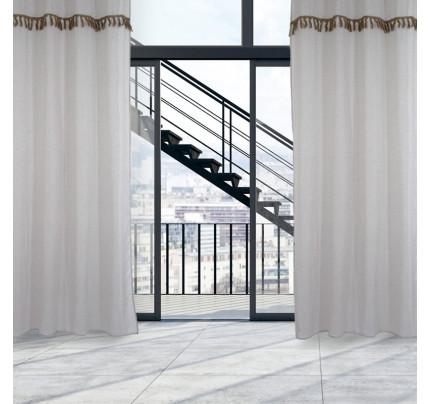 Κουρτίνα Με Τρουκς 140x260 Das Home Curtain 2149 Μπεζ