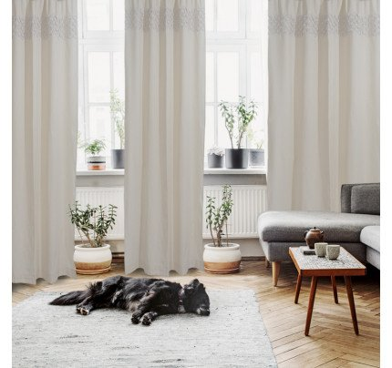 Κουρτίνα Με Τρουκς 140x260 Das Home Curtain 2151 Ιβουαρ