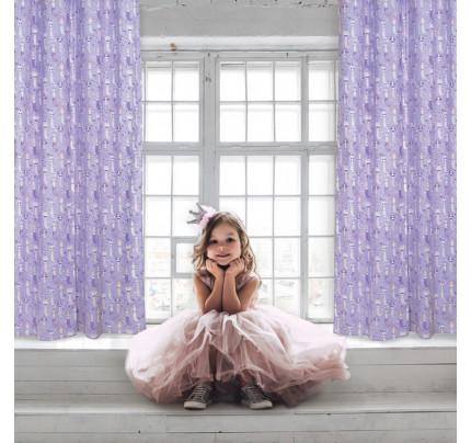 Κουρτίνα Με Τρουκς 140x260 Das Home Curtain 2157 Ροζ-Λιλα-Μωβ