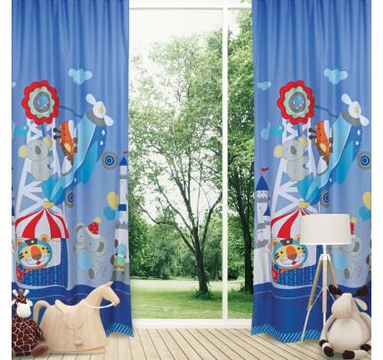 Κουρτίνα Με Θηλιές 140x260 Das Home Smile 6456 Σιελ-Μπλε