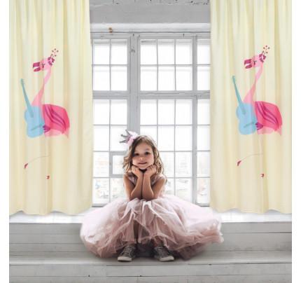 Κουρτίνα Με Θηλιές 140x260 Das Home Smile 6461 Κρεμ-Ροζ