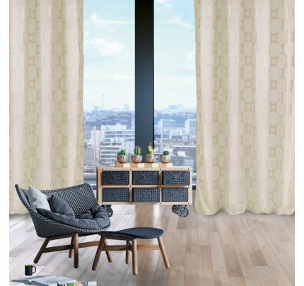 Κουρτίνα Με Τρουκς 140x280 Das Home Curtain 2022 Εκρου