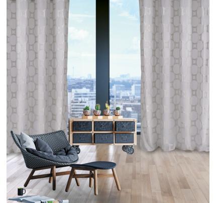 Κουρτίνα Με Τρουκς 140x280 Das Home Curtain 2023 Γκρι