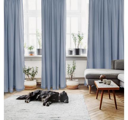 Κουρτίνα Με Τρέσα 450x270 Das Home Curtain 2192 Σιελ