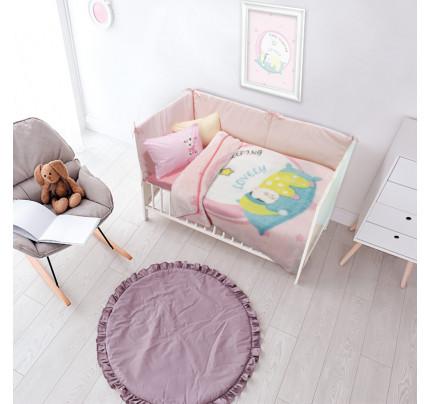 Κουβέρτα Βελουτέ Κούνιας 110x140 Das Home Relax 6561 Ροζ