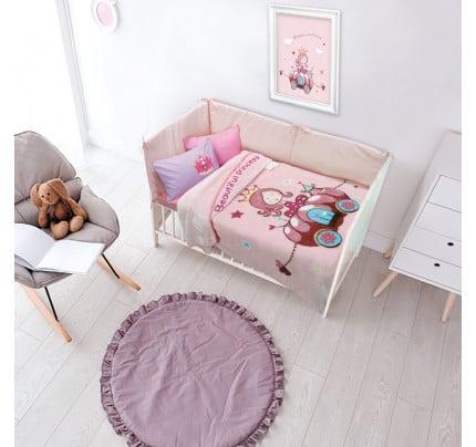 Κουβέρτα Βελουτέ Κούνιας 110x140 Das Home Relax 6563 Ροζ