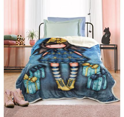 Κουβέρτα Fleece Μονή 160x220 Das Home Cartoon 5020 Μπλε