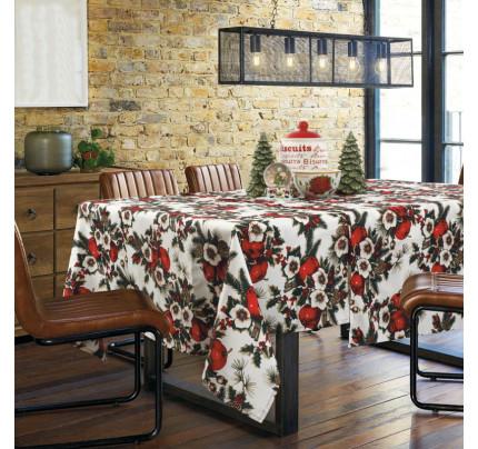 Χριστουγεννιάτικο Τραπεζομάντηλο 140x180 Das Home Christmas 0569 Κοκκινο-Πρασινο