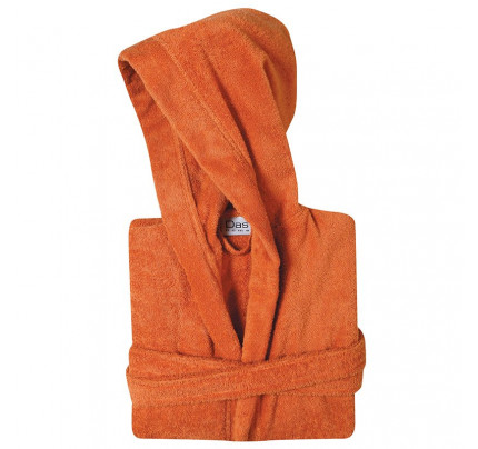 Μπουρνούζι Με Κουκούλα Das Home Soft Casual 1448 Πορτοκαλι