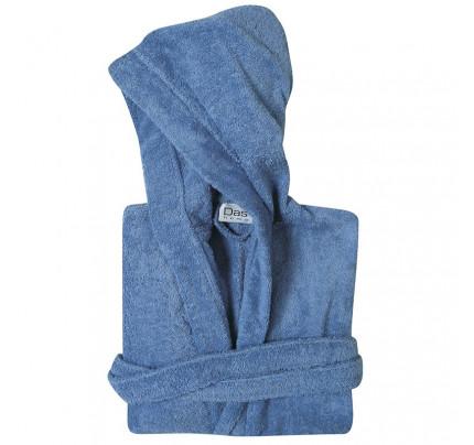 Μπουρνούζι Με Κουκούλα Das Home Soft Casual 1450 Μπλε