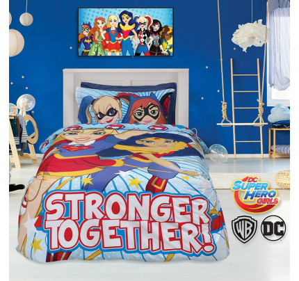 Κουβερλί Μονό 160x240 Das Home Cartoon 5005 Μπλε-Κοκκινο