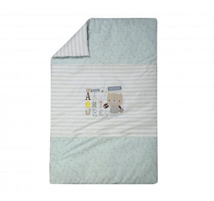Κουβερλί 90x140 Nef Nef Kenthth Safari Λευκό