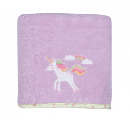 Κουβέρτα Fleece 110x150 Nef Nef Κεντητή Rainbow Story Ροζ