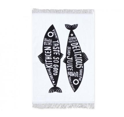 Ποτηρόπανο Βελουτέ 40x60 Nef Nef Trendy Fish Black