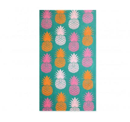 Πετσέτα Θαλάσσης 75x150 Nef Nef Τυπωτη Pineapples Ροζ