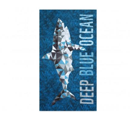 Πετσέτα Θαλάσσης 75x150 Nef Nef Τυπωτη Deep Blue Ocean Μπλε