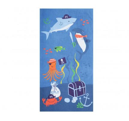 Πετσέτα Θαλάσσης 70x120 Nef Nef Τυπωτη Παιδικη Sea Bed Μπλε