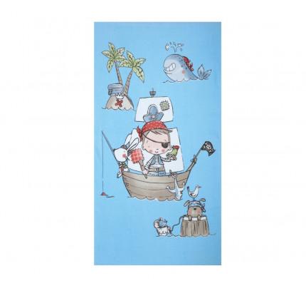 Πετσέτα Θαλάσσης 70x120 Nef Nef Τυπωτη Παιδικη Treasure Island Γαλάζιο
